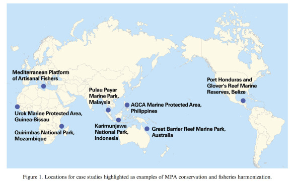Map of MPA sites